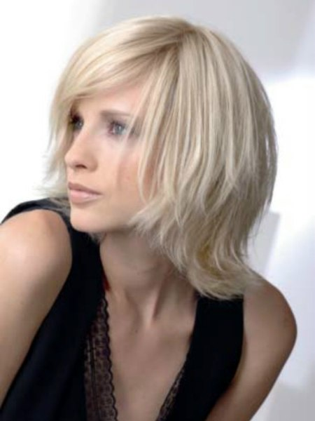 Mid Length Hairstyle For Medium To Fine Textured Hair