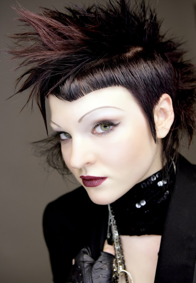 how to cut and color a unisex punk haircut