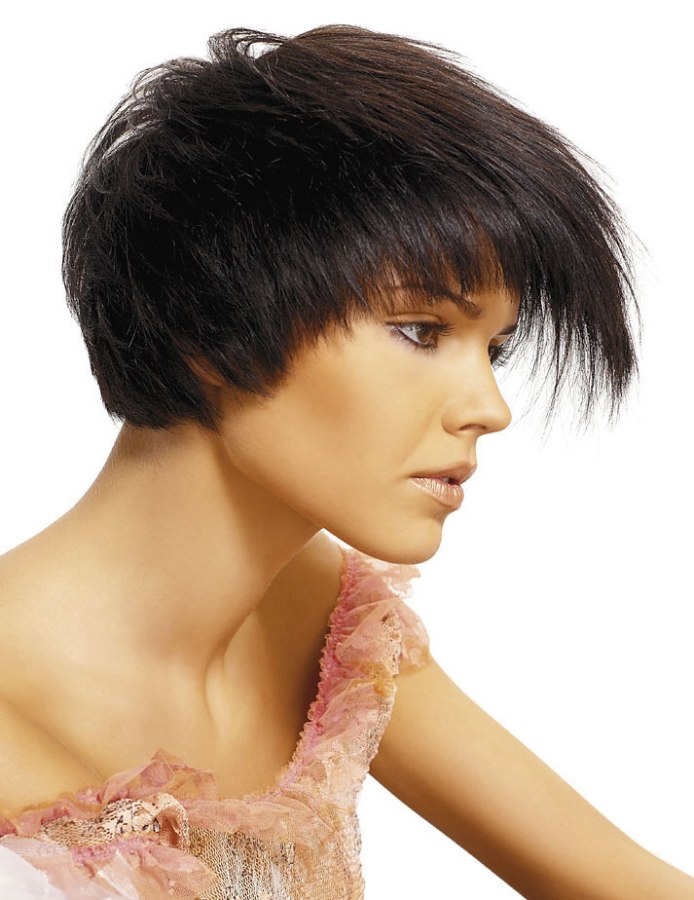 Short And Romantic Fringe Heavy Haircut