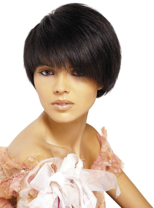 Short Hair With A Smooth Round Shape