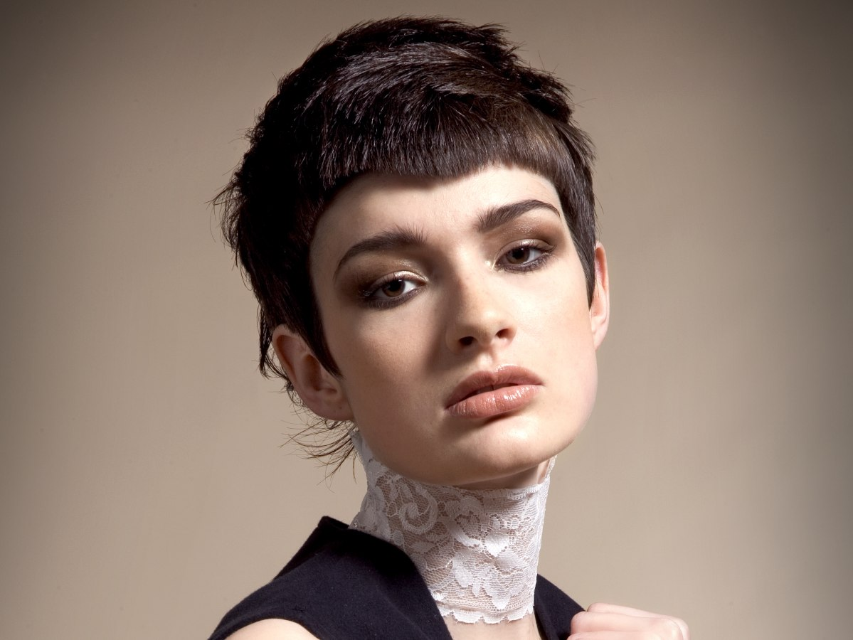 Hip And Funky Short Hairstyle With Smooth Layering