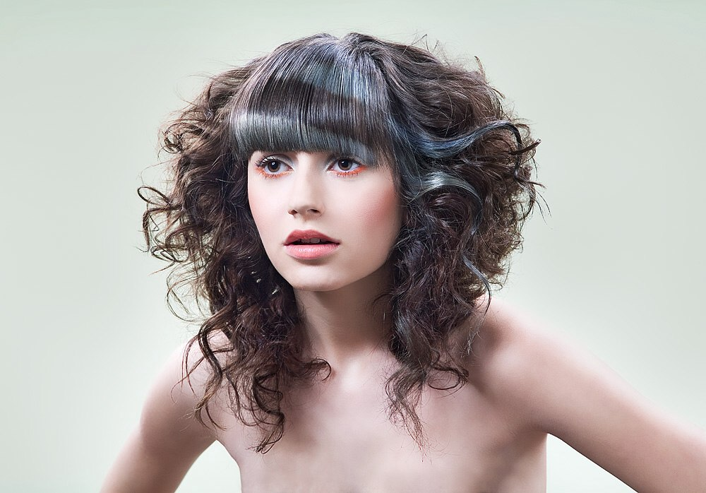 B Styled Hair Collection: Hairstyle With A Combination Of Smooth And Wavy Hair