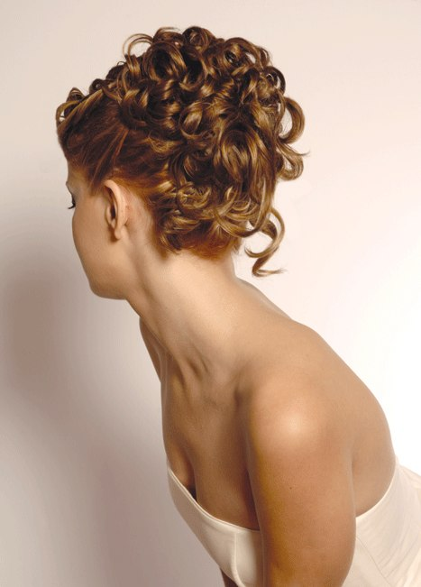 Wedding Upstyle With A Crown Of Smooth Curls Styled Away From - Wedding hairstyle upstyle
