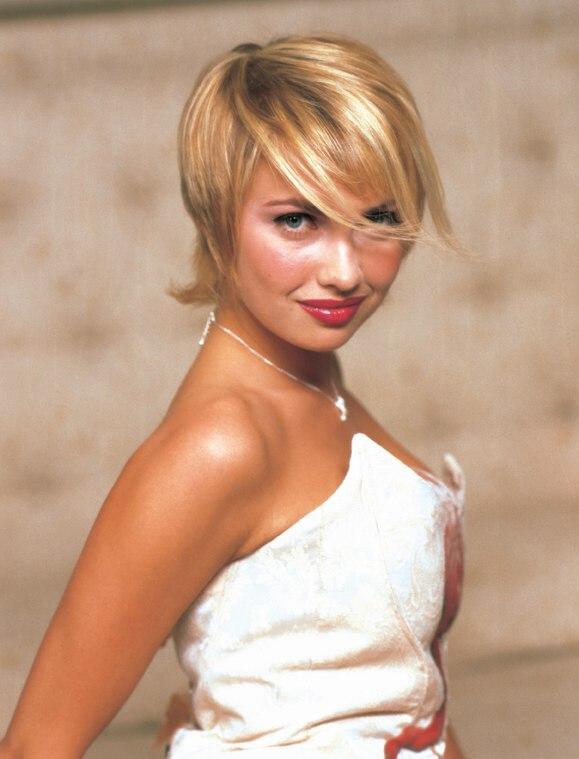 Feminine Short Hairstyle Styled Windblown Look