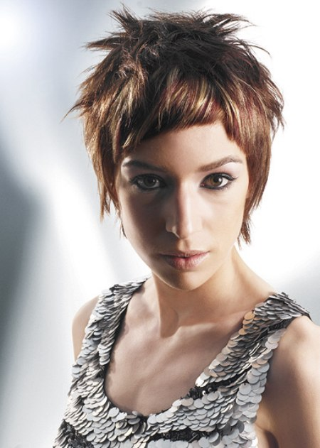 short cropped hairstyles. Short cropped parts interact