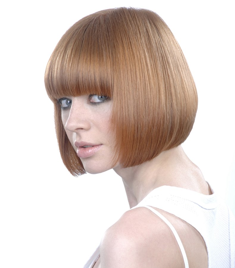Phenomenal Chin Length Bob With Longer Frontal Side Sections Side View Short Hairstyles Gunalazisus