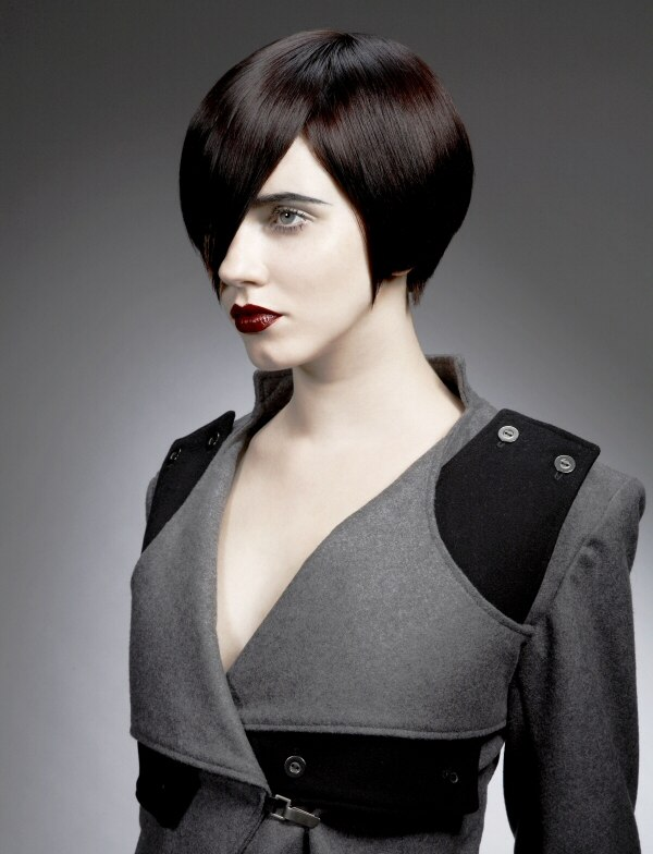 Outstanding Short Fashion Hairstyle Based On A Round Bob With A Tapered Neck Short Hairstyles For Black Women Fulllsitofus