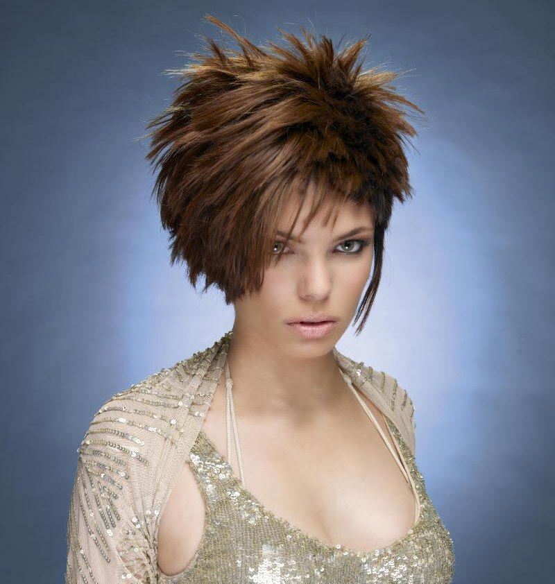Short Hair With Various Lengths Croppy Spiky Style