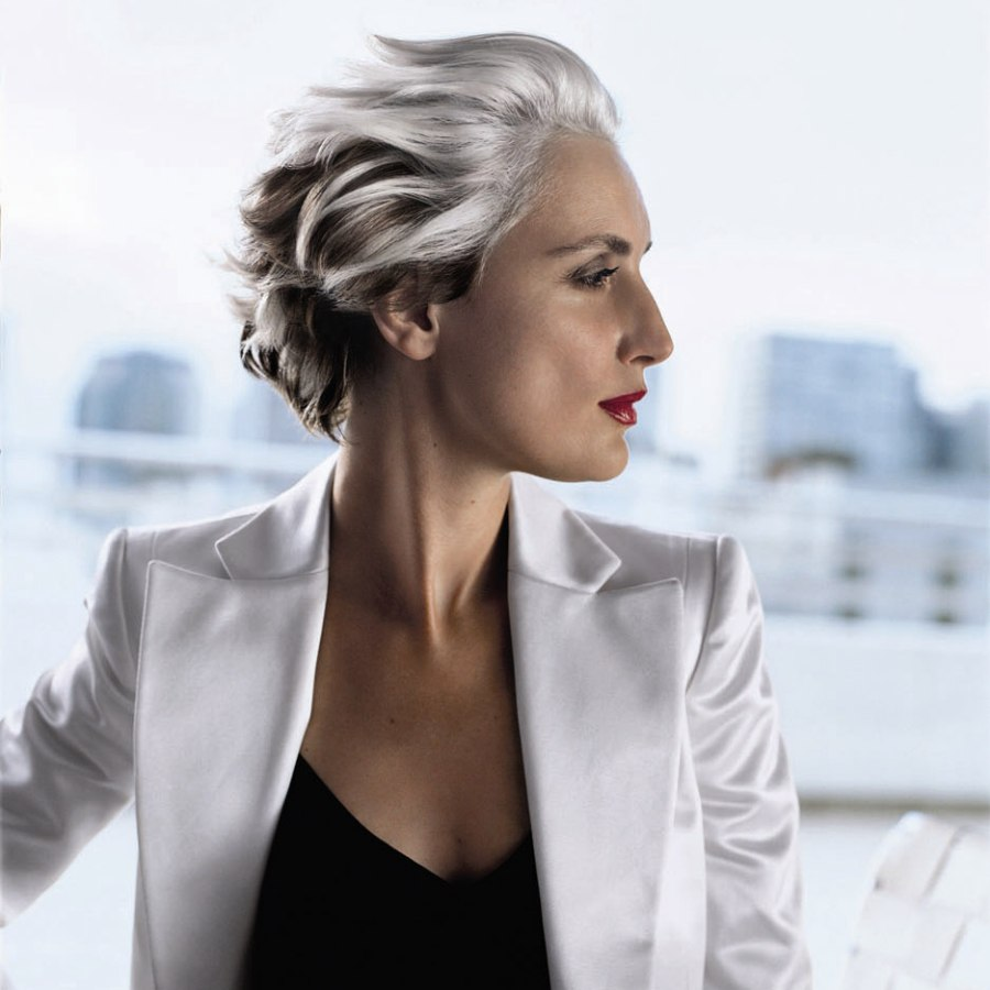 Gray hair and highlights hairfinder - Trendy Short Hairstyle For Women With Gray Hair