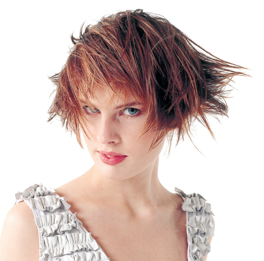 Jaw Length Bob With Hair Styled Into The Face