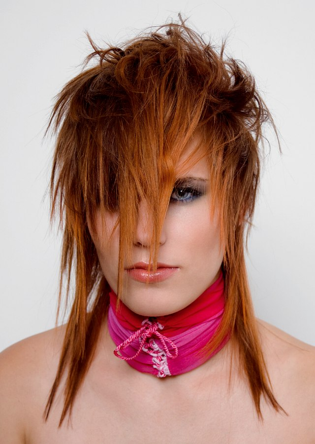 Miraculous Punky Hairstyle With Forward Into The Face Styling Hairstyles For Women Draintrainus