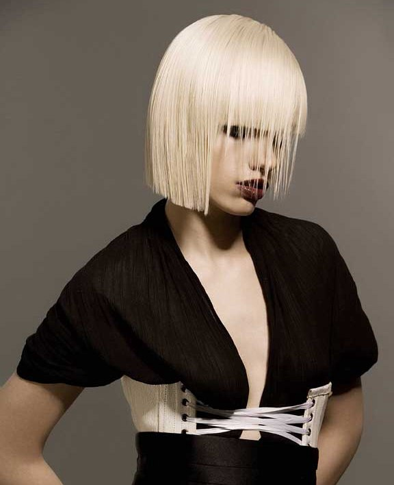 Geometric And Symmetrical Bob Cut With Perfection