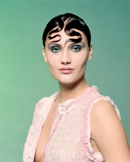 Updo With A Nod To The Vintage Fingerwave Hairstyles Of The 30s And 40s