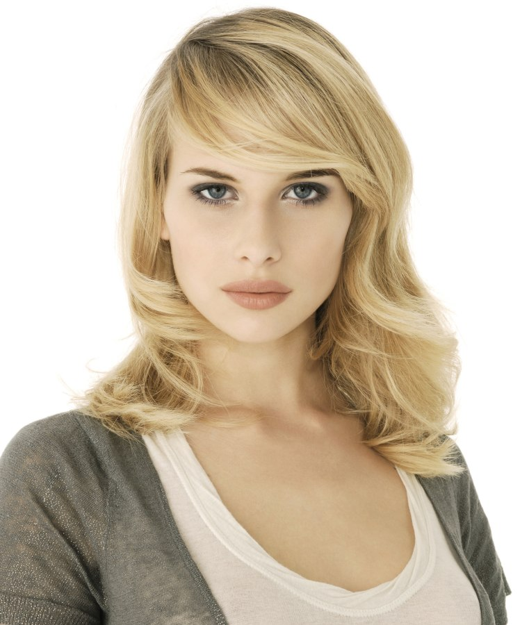 Classic Secretary Hairstyle With A New Twist And Flowing Waves