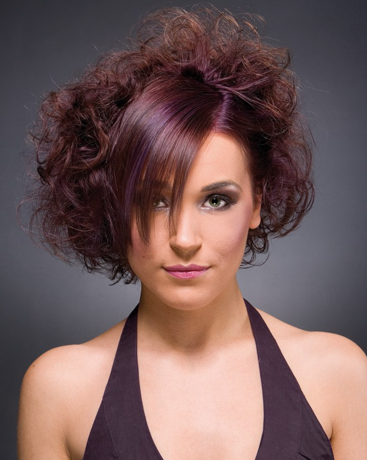 Combination Of Straight And Curly Hair Fashion Hair Color