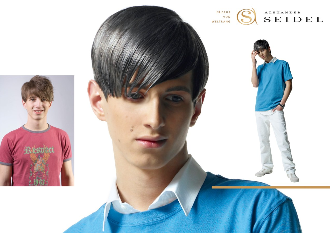 Men S Haircut With Coloring For A Metallic Steel Effect