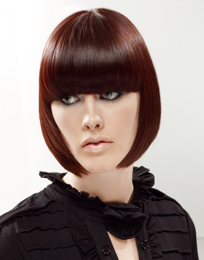 Chin Length Pageboy Styled Close To The Face