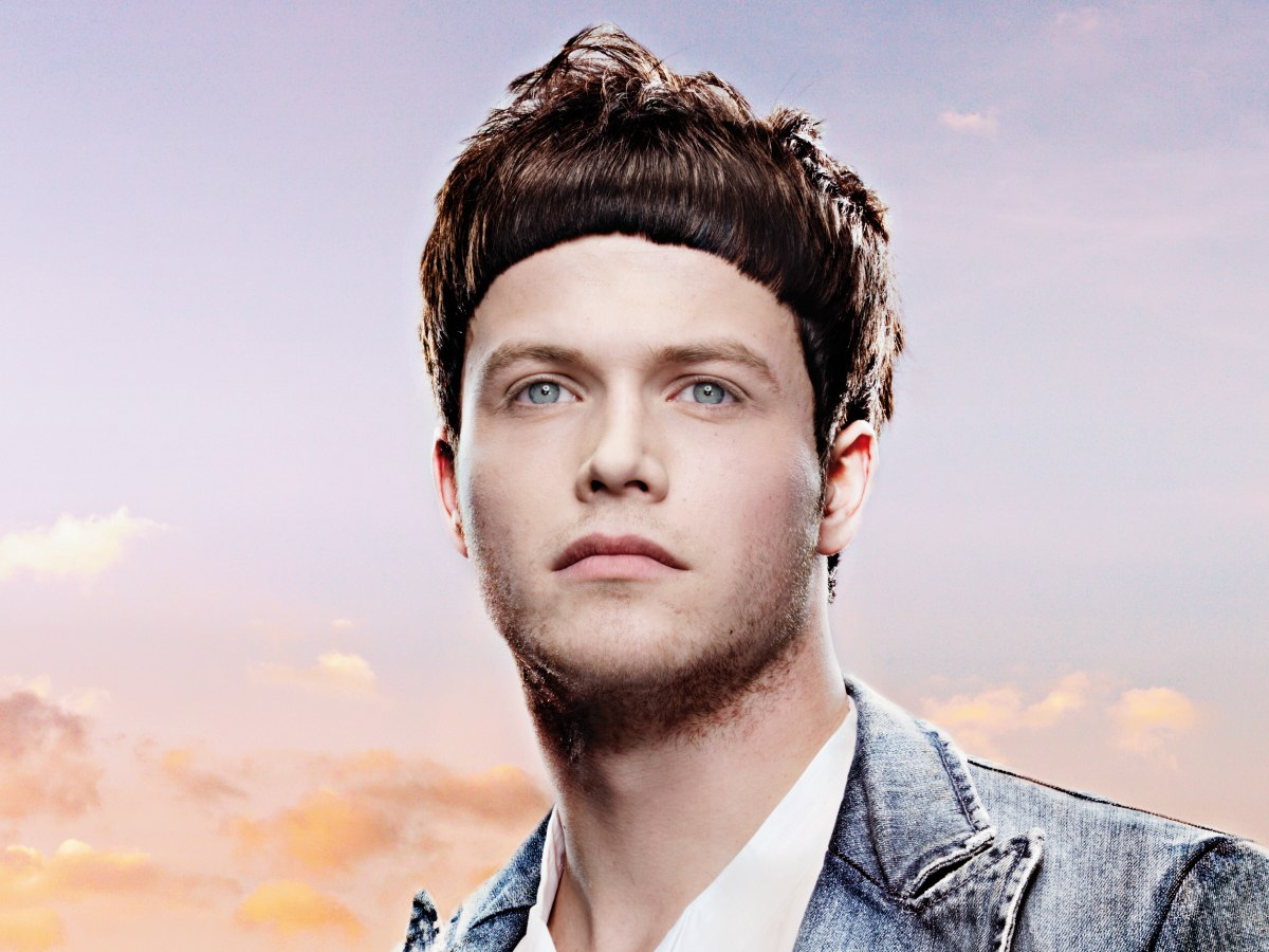 Men S Hairstyle With A Concave Fringe