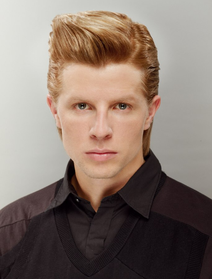 Mens Hairstyle With A Quiff And Slicked Back Sides