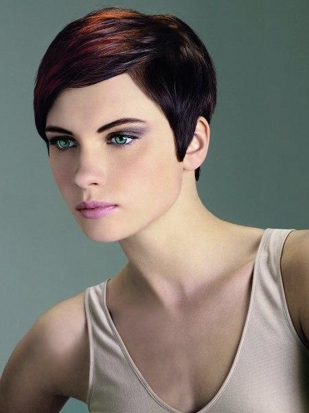 sleek short hairstyle