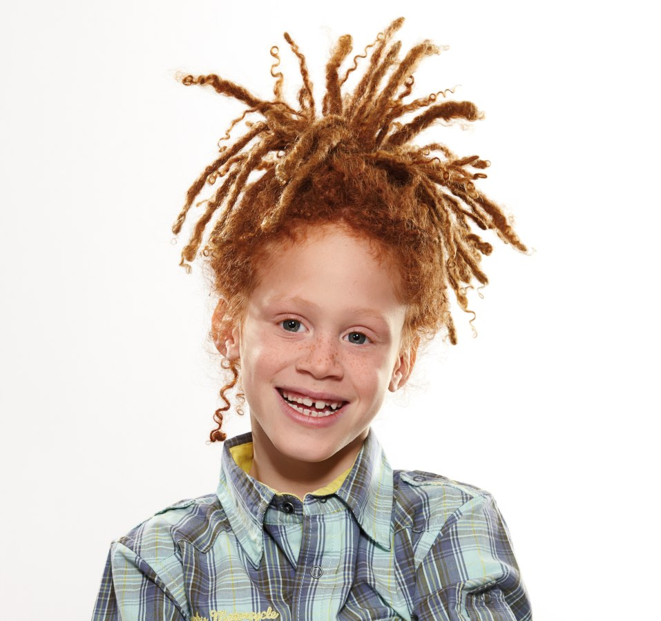 Boy With Red Dread Locks