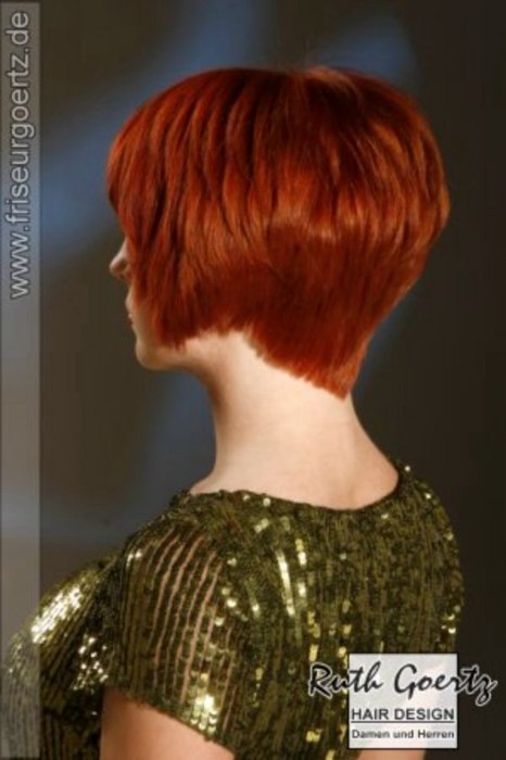 V-shape Haircuts for Short Hair Back Views