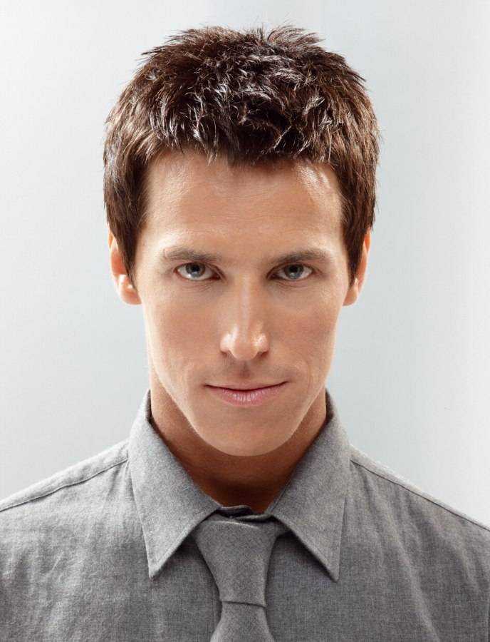 Short and simple haircut for men