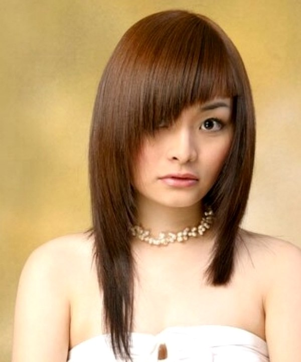 Long Asymmetrical Hairstyle For Asian Hair