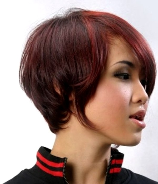 Short Asian Haircut With Hair Curving Around The Neck - Short hair on asian