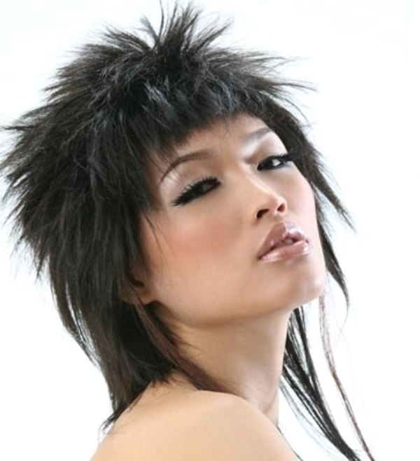 cropped and spiky hairstyle for asian hair