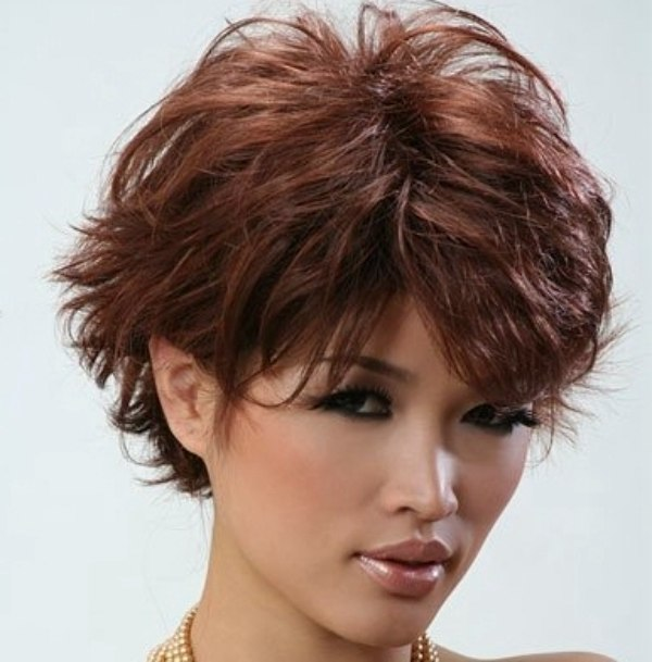 Fashionable Short And Layered Asian Hairstyle