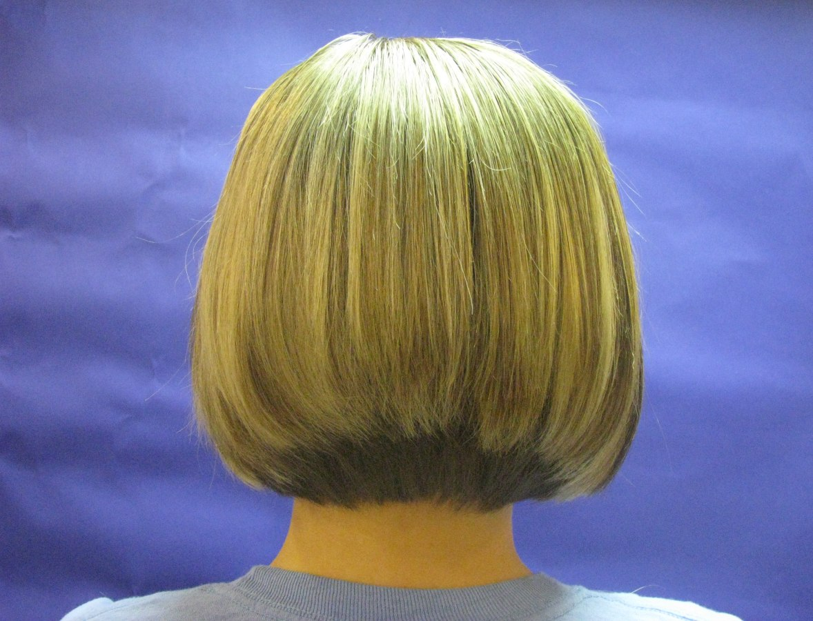 Backview of a fashionable bob