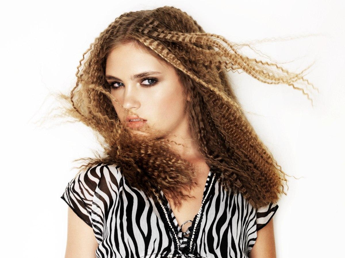 Crimped Chest Length Hair
