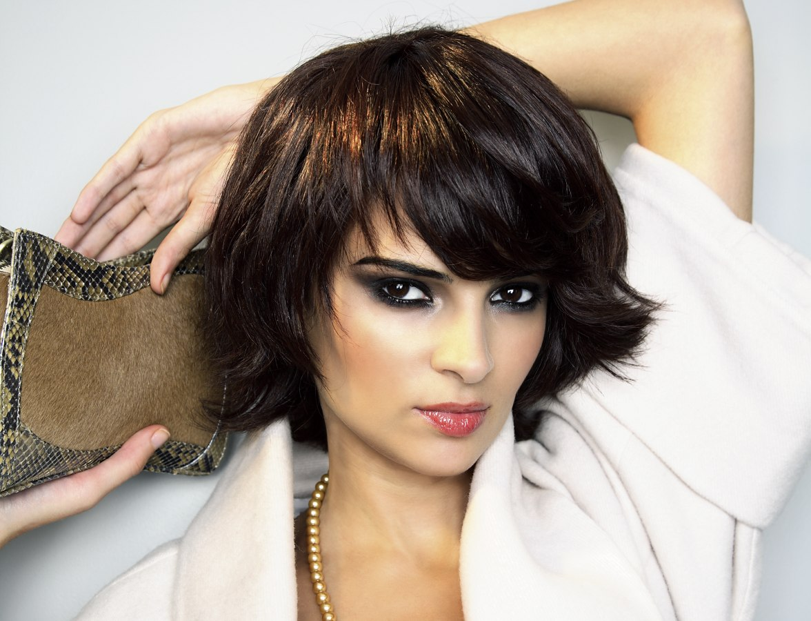 Modern low maintenance hairstyle for short hair