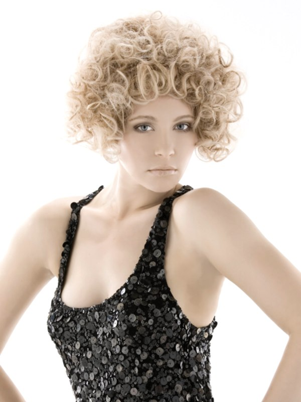 short spiral curls hairstyle