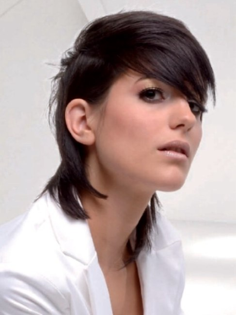 Medium Length Hair with Low Side Part. Axel Marens. mid-length hairstyle