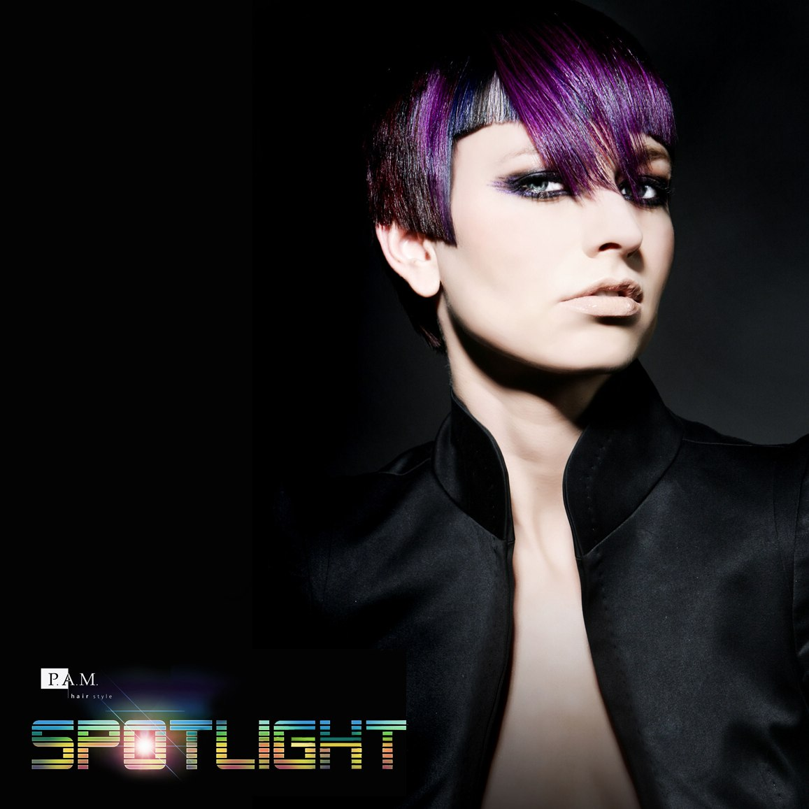Short Haircut With A Squared Fringe And An Aubergine Hue Purple Hair