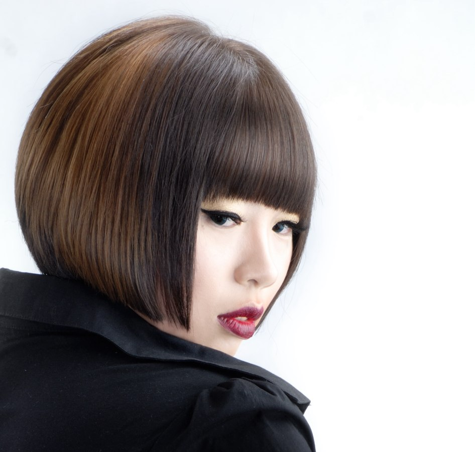 Korean straight haircut for girls