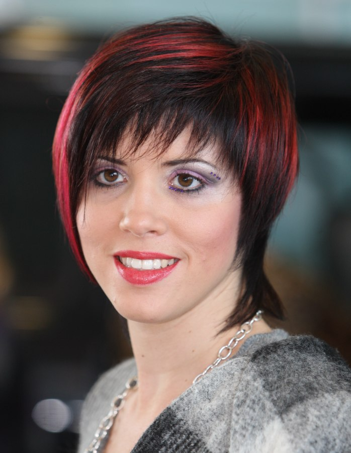 Youthful Bob Hairstyle With A Longer Fringy Nape And A