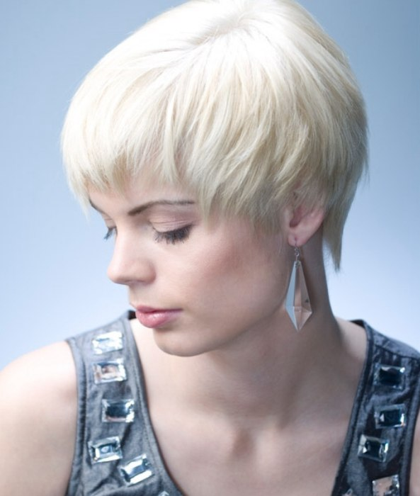 Short Cropped Haircut Cropped Blonde Hair