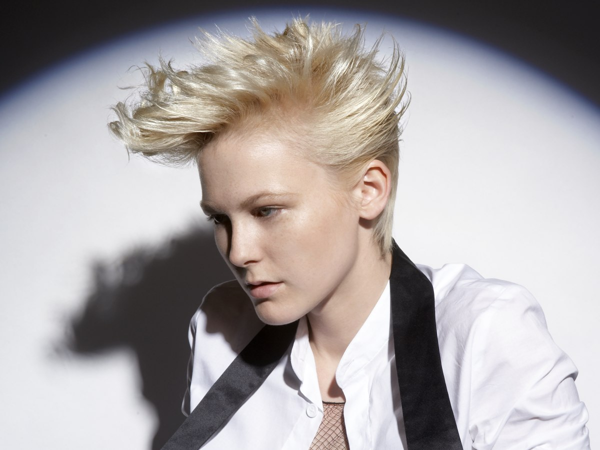 Windswept Look With Wings Along The Sides For Short Hair
