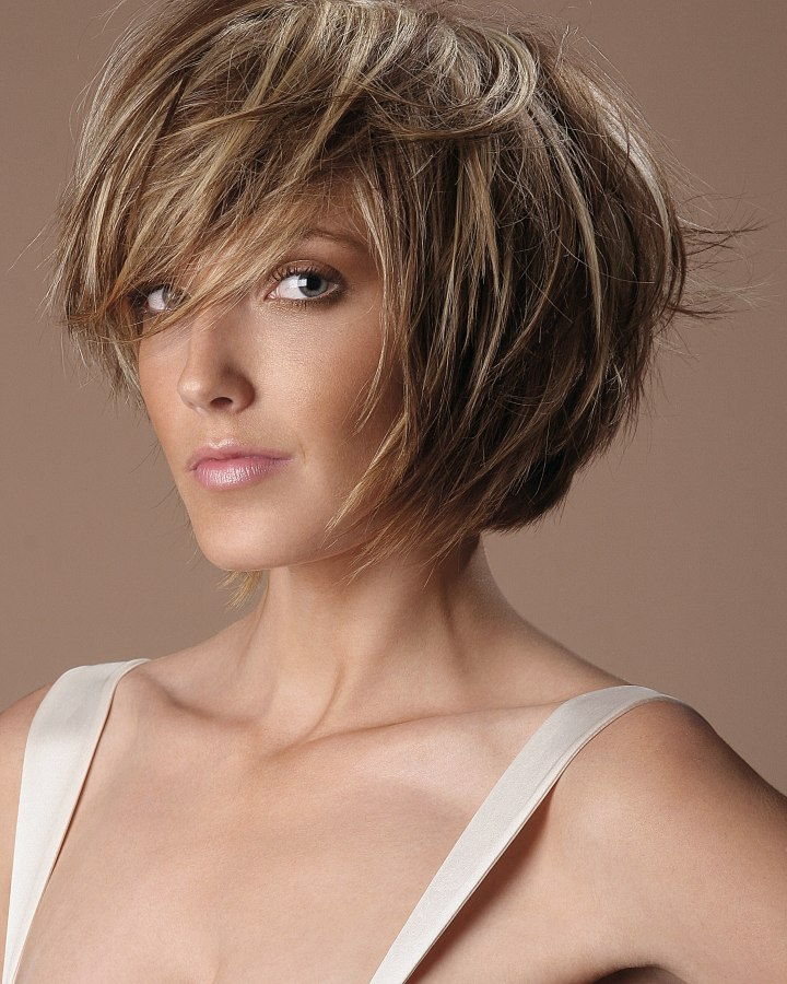 Contoured Bob Cut Styled With Scalp-lift For Volume