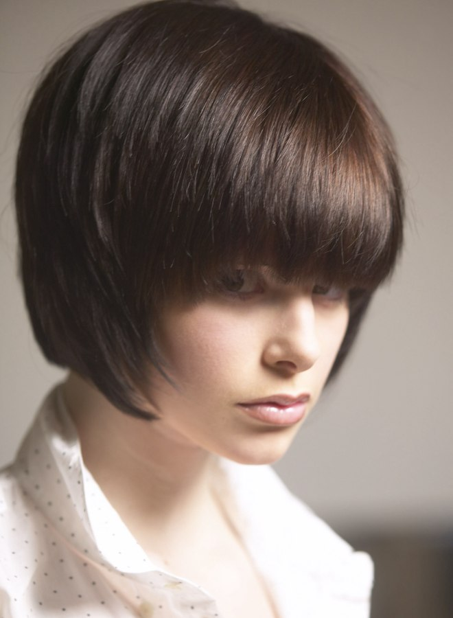 Sensational Classic Bob Hairstyle With A Fringe And Softened Ends Short Hairstyles Gunalazisus