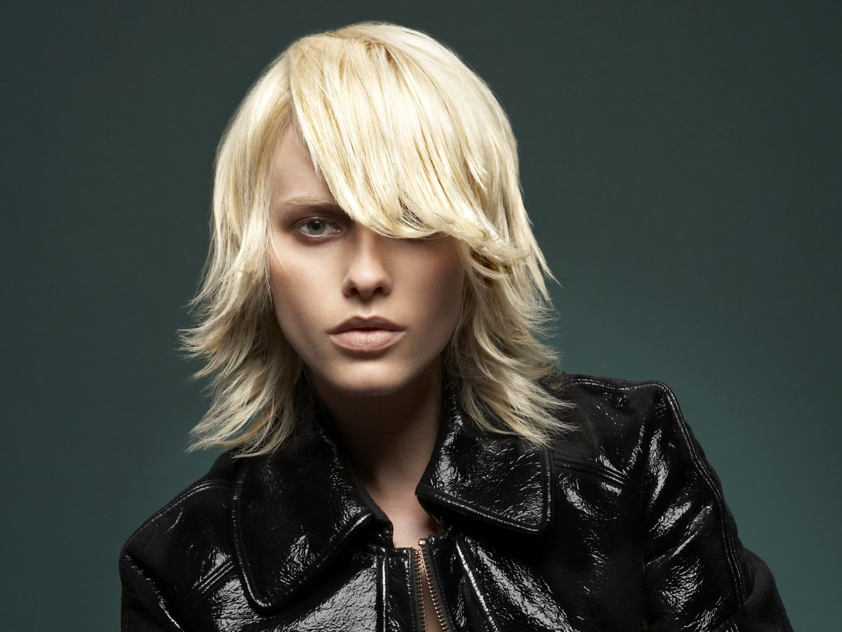 Medium Length Layered Haircut With Textured Ends