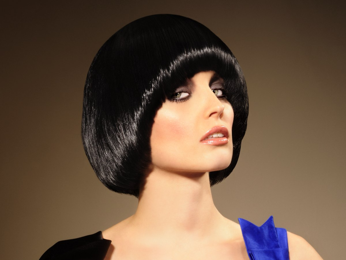 Awesome Pudding Bowl Or Purdey Hairstyle Glossy With A Polished Sheen Short Hairstyles Gunalazisus