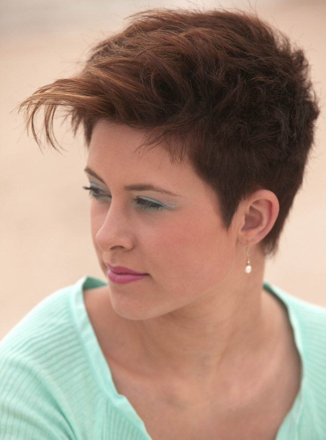 Fabulous Super Short Hairstyle For Women Pixie With Short And Tapered Short Hairstyles Gunalazisus