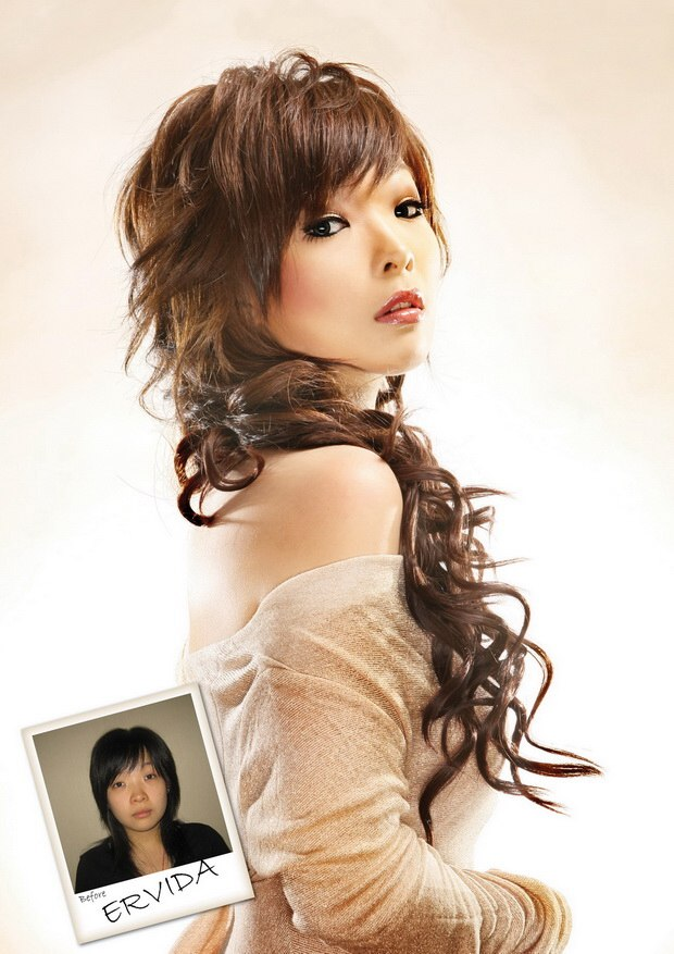 Asian Hair Extensions With Coiling