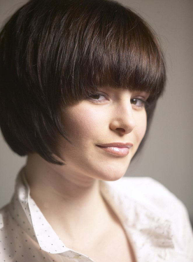 Classic Bob Hairstyle With A Fringe And Softened Ends