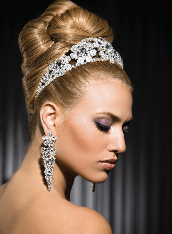 Princess Bride Look With Smooth Sleek Twists Of Hair That