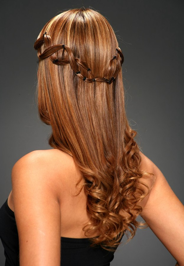 Long Hairstyle For A Daytime Wedding Or A Special Event